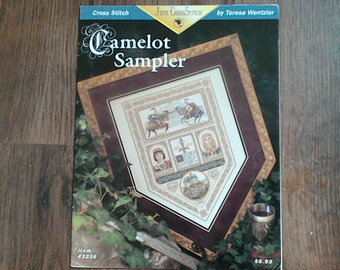 "Teresa wentzler "" Camelot sampler "" chart...discounted price"