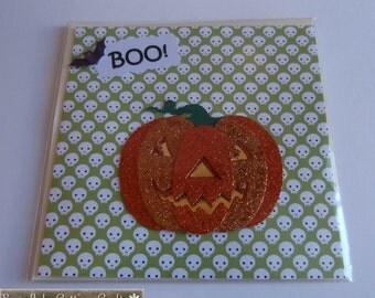 Skull and Pumpkin Halloween Card