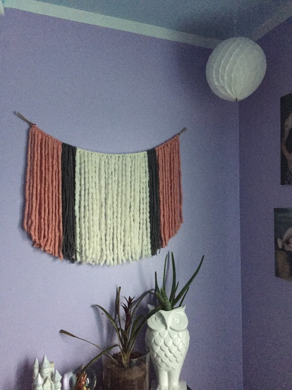 Nursery wall decor boho nursery decor bohemian nursery yarn for Yarn wall art