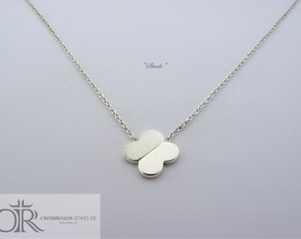 "clover necklace - ""shade"""