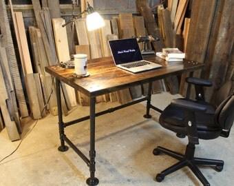 Industrial Pipe Reclaimed Wood Desk