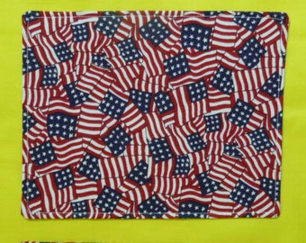 4TH July 2 Flag Style Mug Rugs Snack Mats