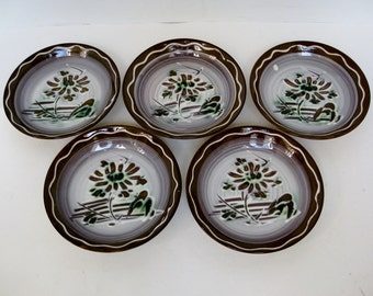 Japanese Stoneware Dipping Bowls, Set of 5