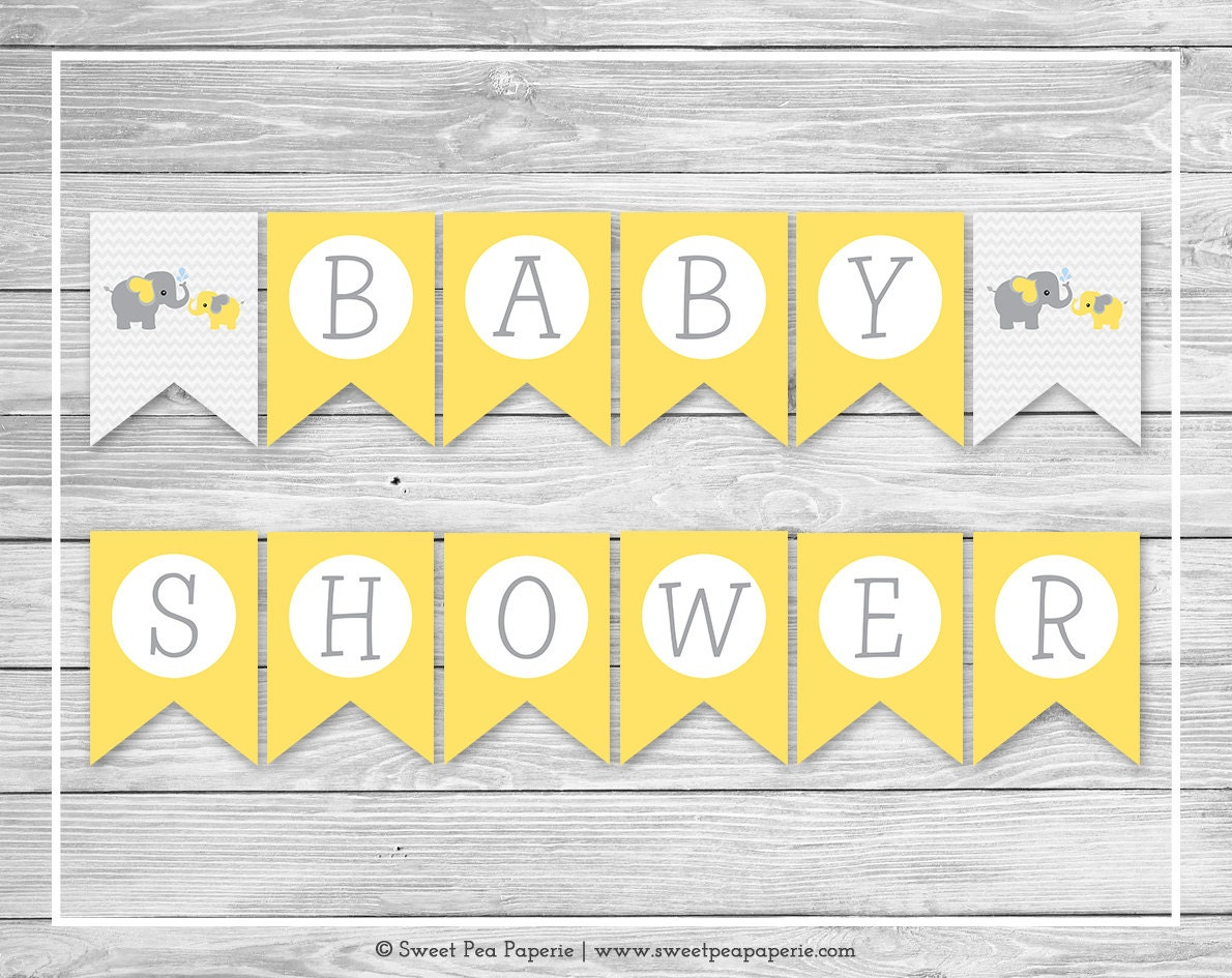 Influential image inside baby shower banner printable