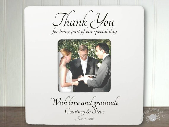 Wedding Officiant Gift Ideas: Personalized Wedding Officiant Frame Officiant Gift Thank You