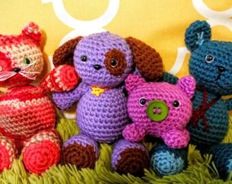 Crochet Pattern: Build-A-Buddy Mix & Match Amigurumi Parts Patterns for Beginners