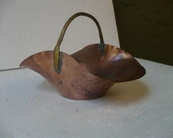 Vintage Copper Basket