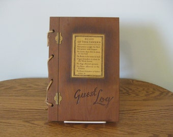 Guest Log Book Wooden