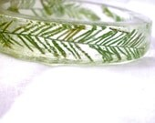 Ferns in Resin Bangle