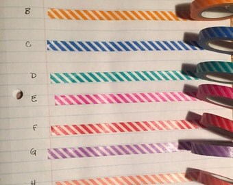 7mm Diagonal Stripe Washi Tape