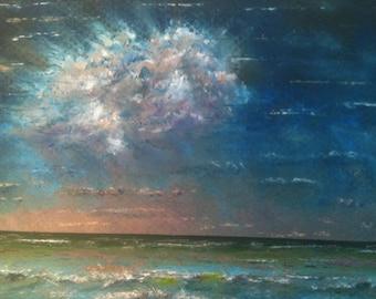 Contemplating a cloud /Seascape
