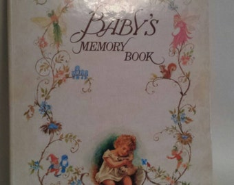 Baby memory book with pop up illustrations