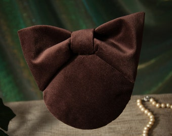 Fascinator Brown Velvet
