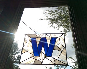 Cubs Win Flag Made into Stained Glass.