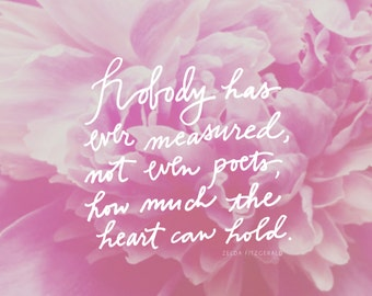 5x5 Notecards with Peony Blossom + Zelda Fitzgerald Quote [Set of 25]