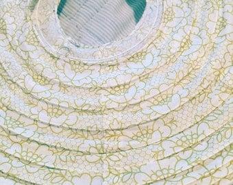 Vintage 1970's Paper Lantern ~ Lovely Floral Pattern