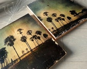 Photos on wood set of two...