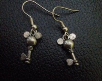 Mickey mouse key earrings,Inspired key mickey mouse earrings-mickey mouse jewelry-inspired mickey mouse earrings