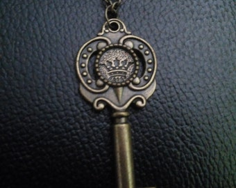 key necklace-crown key necklace-jey jewelry