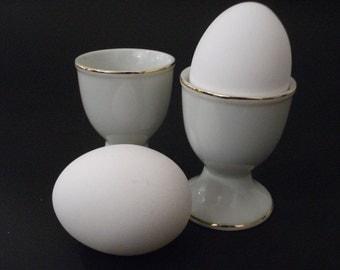 Porcelain Eggcups Made in Japan, 1950's Set of 2