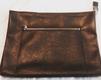 SALE ITEM Large vintage leather look messenger bag