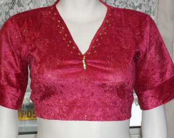 Plus Size Belly Dancing Choli Top with sequins Size 22/24
