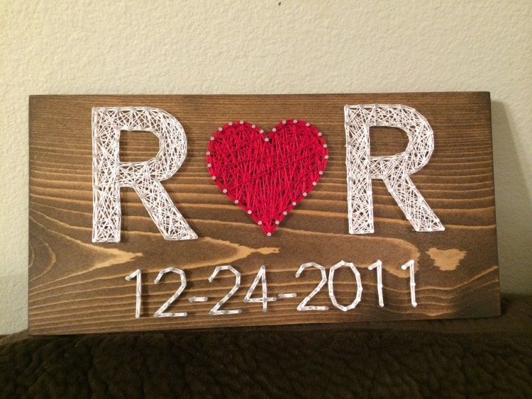 Custom Wedding Anniversary String Art Sign Date Art By