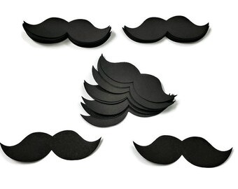Mustache Paper -Set of 50 -Mustache Confetti Party Decorations