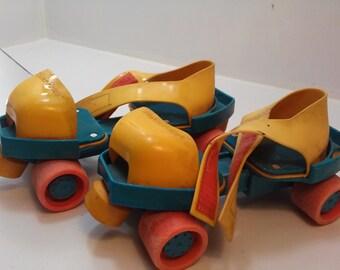 Fisher Price Vintage Roller Skates Adjustable Kids from 1992