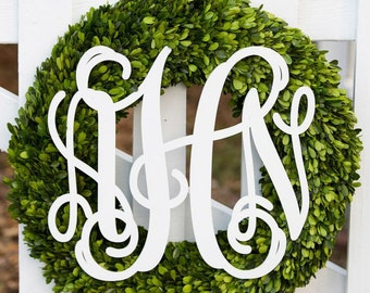 White Wooden Monogram- Wall Letters- Wall Hanging- Nursery Decor- Nursery Letters- Home Accent- Wedding Monogram- GuestBook- Wedding Decor