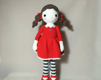 Doll in Red Dress-Free Shipping!