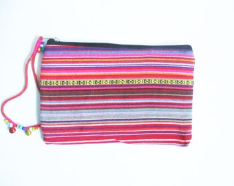Aztec printed travel purse