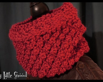 Snood Berry red Lurex