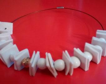 "Necklace handmade ceramic""Chicco d'Oro"""