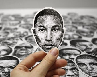 Scribbled Pharrell Williams - Vinyl Sticker