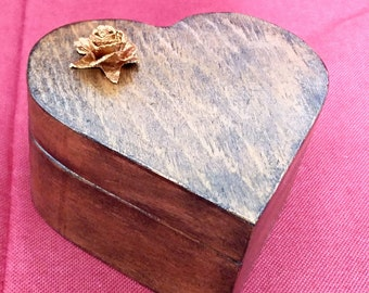 Wedding gift, Wedding ring box, Ring box, Decorative box, Jewelry box,Jeweler, Ask for marriage, Heart box,