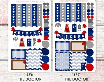 The Doctor Sampler Kit | Over 30+ Kiss-Cut Stickers | Erin Condren OR Mambi | SP6 | SP7 |