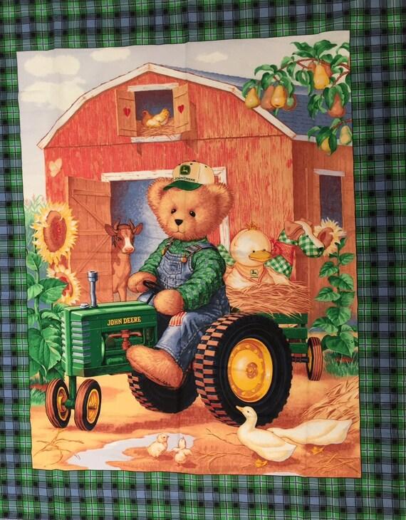 John Deere Teddy Bears : John deere blue jean teddy bear fabric by sayitsew on etsy
