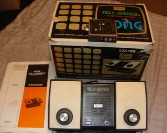 Vintage Atari Sears Tele-Games Pong Electronic Video Game Console