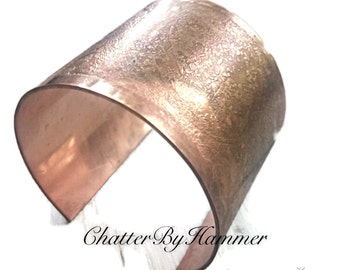 Personalized Copper Jewelry for Her - Chunky Boho Cuff Personalized - Copper Jewelry - Copper Bracelet - Copper Cuff - Boho Wedding