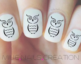 Owl Nail Decal
