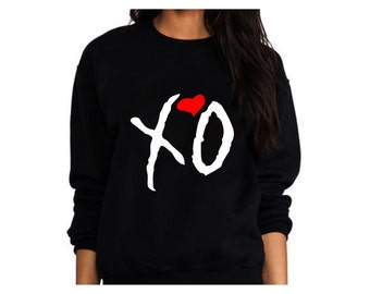 Sweatshirt XO Sweater Xo the Weeknd - High Quality SCREEN PRINT Super Soft fleece lined unisex Sizes