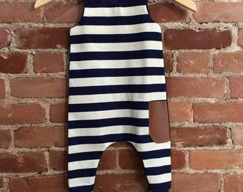 Blue and white striped OnePiece for babies & children