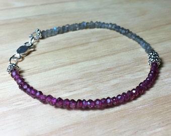 Garnet Delicate Bracelet Healing Jewelry Precious Bracelet Gemstone bracelet Dainty Bracelet Everyday Simple Bracelet Talisman Jewelry