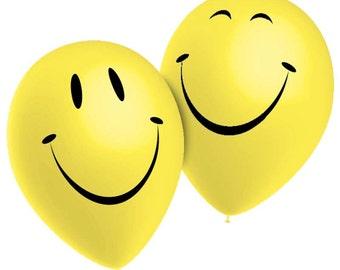 10 balloons emoji yellow smiley - balloons emoticon smile