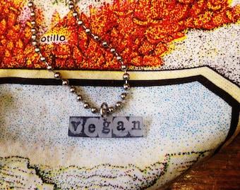 handmade vegan necklace