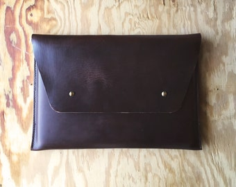Horween Leather Macbook Case, Leather Macbook Case, Leather Mac Case, Leather Laptop Case, Horween Leather, Laptop Sleeve