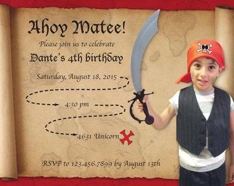 Pirate Birthday 5x7