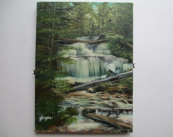 Waterfall painting in oil