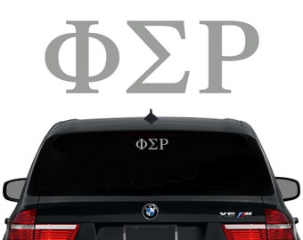 Phi Sigma Rho Greek Letters Sorority Decal Laptop Sticker Car Decal